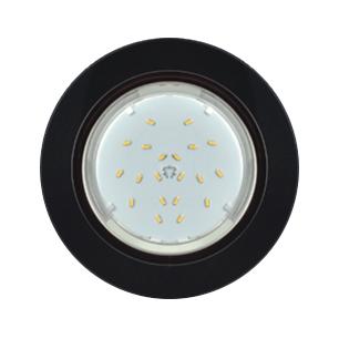 Ecola GX53 5310 H4 Glass Круг с подсветкой черный хром-черный