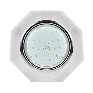 Ecola GX53 H4 Glass LD5312 Стекло 8-угольник с прямыми гранями с подсветкой хром-матовый 38x133
