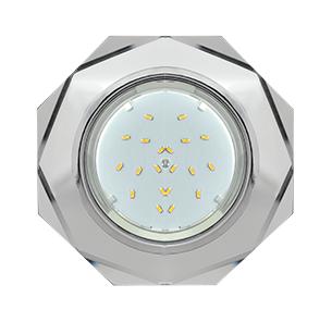 Ecola GX53 H4 Glass LD5312 Стекло 8-угольник с прямыми гранями с подсветкой хром - хром
