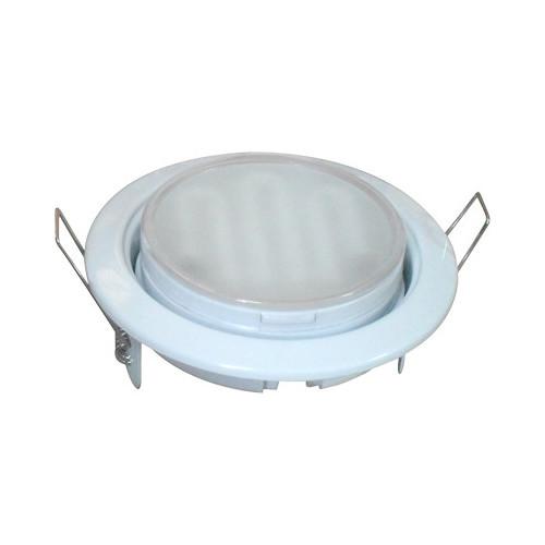 Ecola GX53 H4 белый Светильник встраиваемый